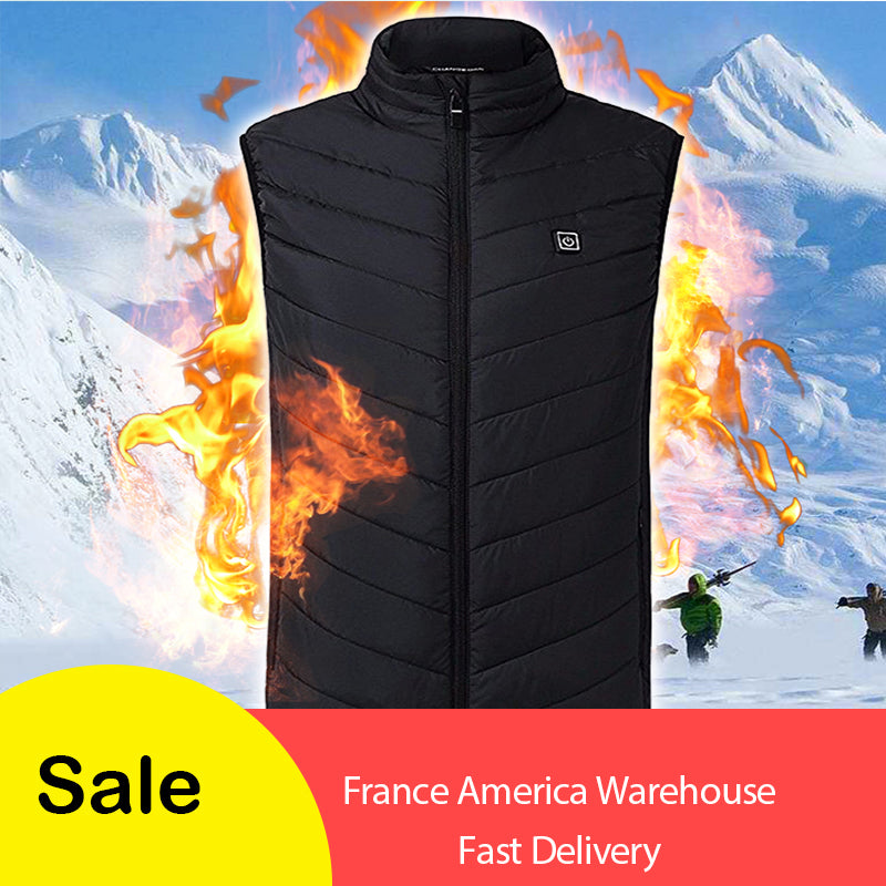 Hot sale Men Women Electric Heated Vest Heating Waistcoat USB Thermal Warm Cloth FeatherWinter Jacket hunting Fishing Dropship