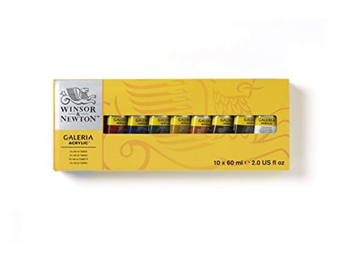 Winsor & Newton - Galeria set (10x60ml)-ArtSuppliesOnline-set 10 x 60ml-10 kleuren-ArtSuppliesOnline