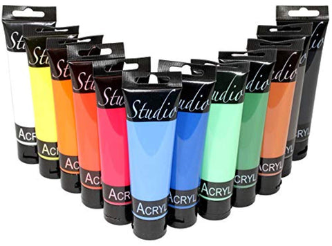 Image of Studio - Acrylverf set (12x100 ml)-ArtSuppliesOnline-ArtSuppliesOnline