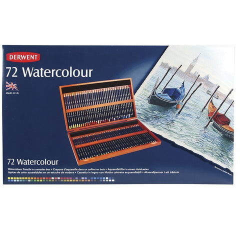 Image of Derwent Watercolour (diverse sets)-ArtSuppliesOnline-72 Houten kist-ArtSuppliesOnline