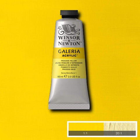 Image of Winsor & Newton - Galeria acrylverf in diverse kleuren (tube 60 ml)-ArtSuppliesOnline-Process Yellow-ArtSuppliesOnline