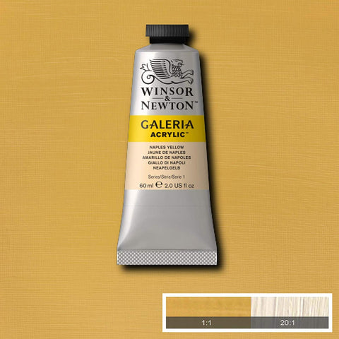 Image of Winsor & Newton - Galeria acrylverf in diverse kleuren (tube 60 ml)-ArtSuppliesOnline-Naples Yellow-ArtSuppliesOnline
