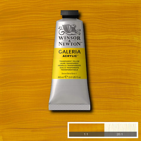 Image of Winsor & Newton - Galeria acrylverf in diverse kleuren (tube 60 ml)-ArtSuppliesOnline-Transparent Yellow-ArtSuppliesOnline