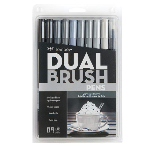 Tombow - Dual Brush Markers (diverse sets)-ArtSuppliesOnline-Grayscale-ArtSuppliesOnline