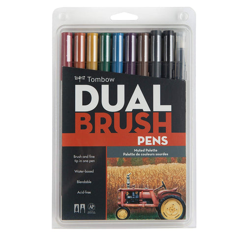 Tombow - Dual Brush Markers (diverse sets)-ArtSuppliesOnline-Muted-ArtSuppliesOnline