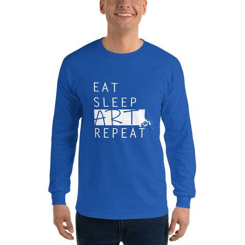Eat Sleep Art Repeat (Long Sleeve Uni-Sex) - Diverse Kleuren