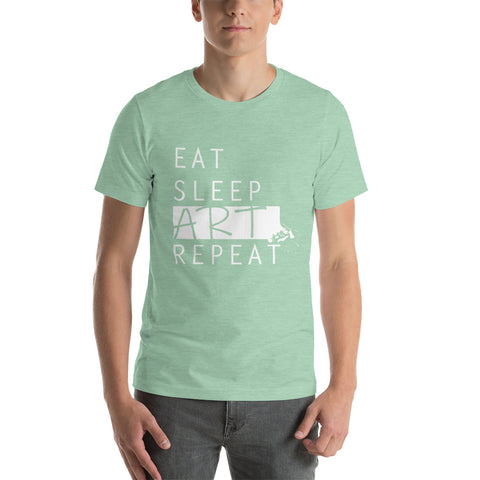Eat Sleep Art Repeat (T-shirt) - Diverse Kleuren