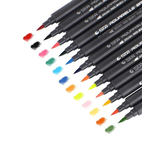 Image of STA - Aquarelle Brush Markers (diverse sets)-ArtSuppliesOnline-12-ArtSuppliesOnline