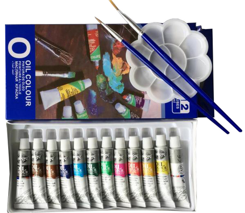 Image of Olieverf set (12 Kleuren/6ml)-ArtSuppliesOnline-ArtSuppliesOnline