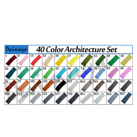 Image of T5 - Sketch Markers (diverse sets)-ArtSuppliesOnline-40 Architect-ArtSuppliesOnline