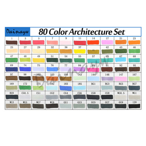 Image of T5 - Sketch Markers (diverse sets)-ArtSuppliesOnline-80 Architect-ArtSuppliesOnline