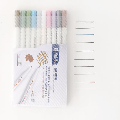 Image of STA - Metallic Brush Markers (6/10 stuks)-ArtSuppliesOnline-10-ArtSuppliesOnline