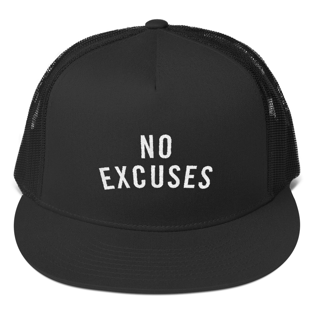 NO EXCUSES TRUCKER CAP