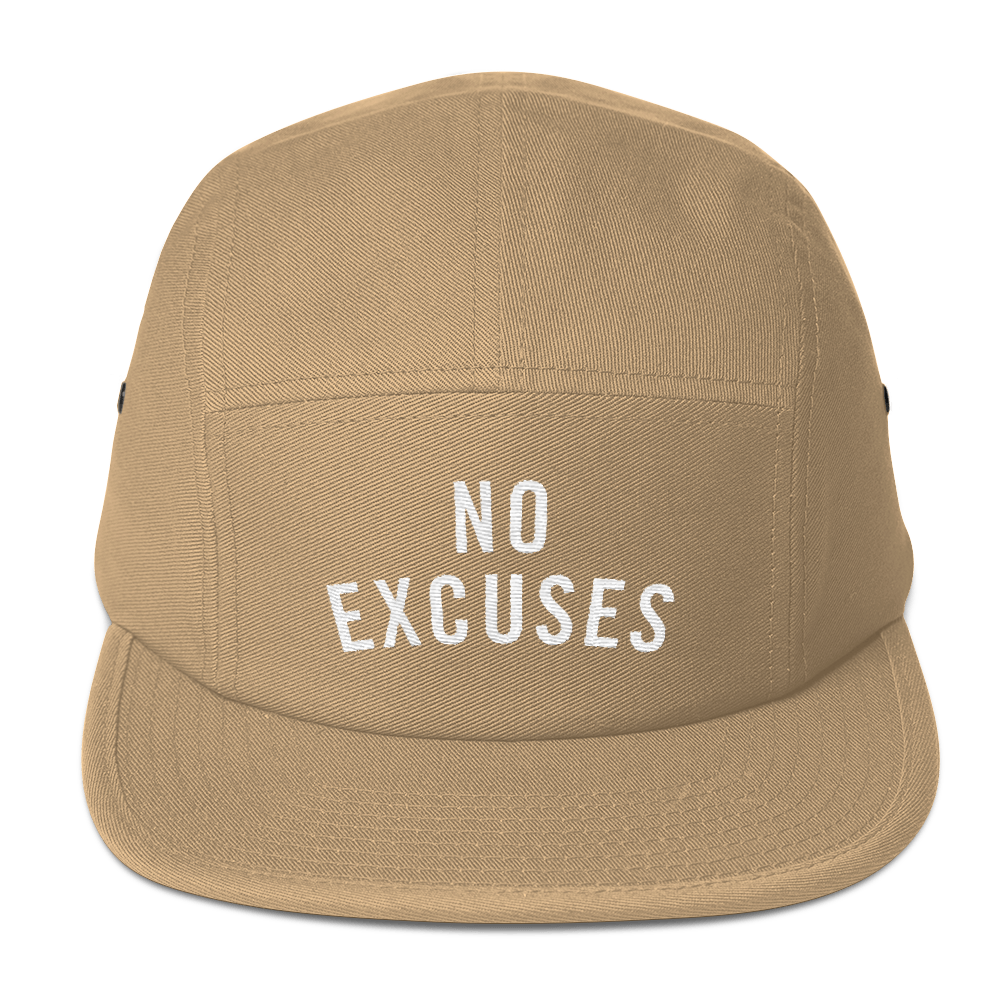 NO EXCUSES FIVE PANEL CAP
