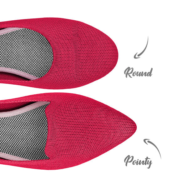 round toe and pointed flats