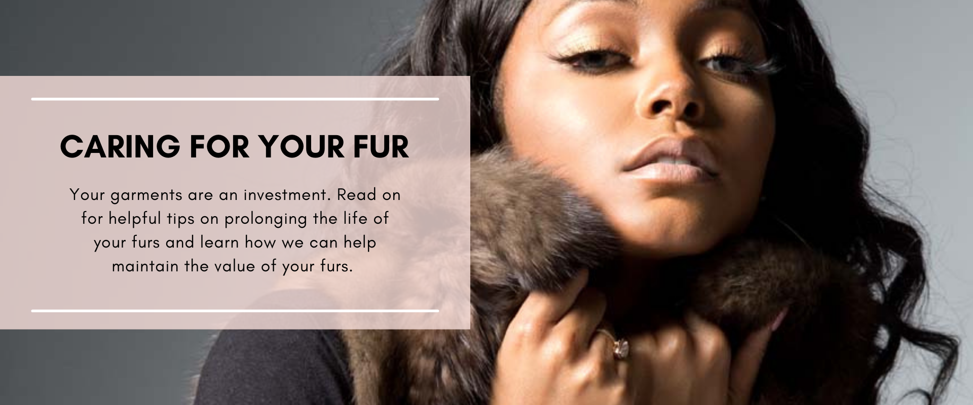 Caring for your fur - Protect your investment