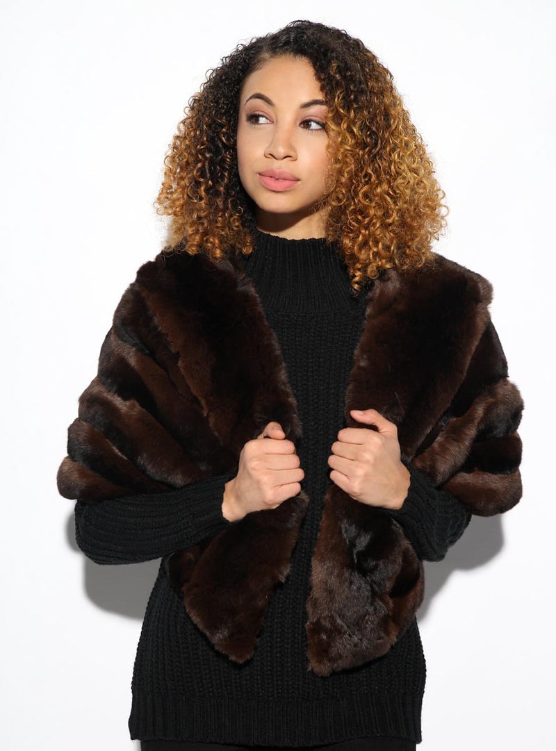 Women's Chinchilla Fur Cape