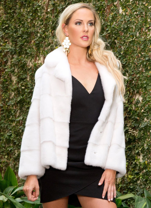 Horizontal Mink Fur Jacket