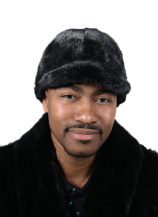Men's Mink Fur Baseball Cap