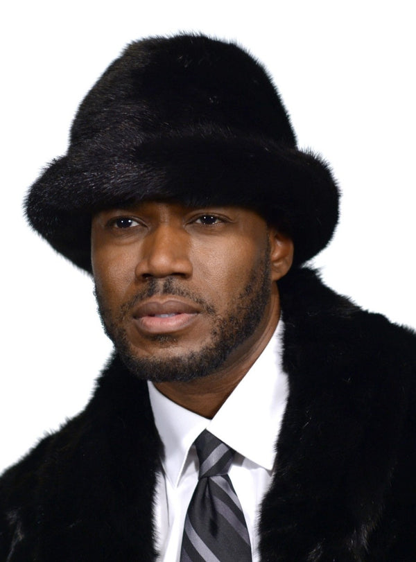 men's mink fur hat