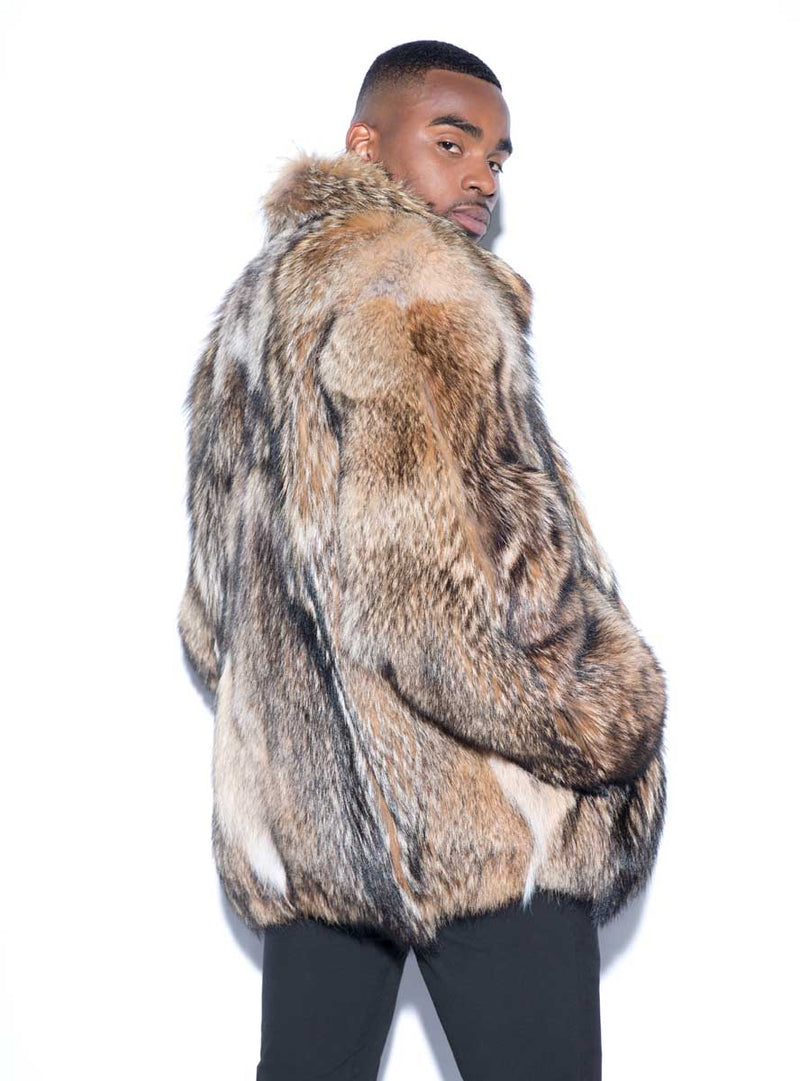 Custom Made Coyote Fur Jacket with Optional Hood