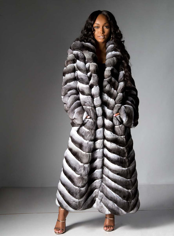 women's chinchilla fur coat