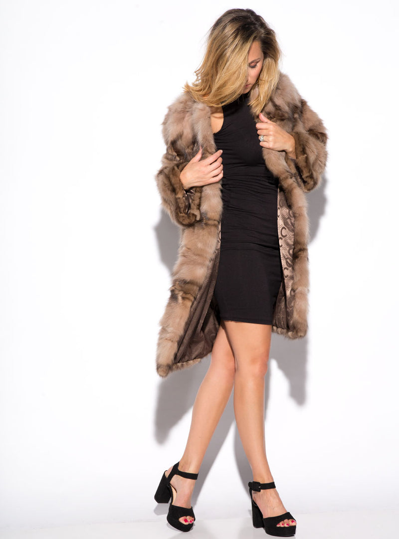 Women's sable fur jacket