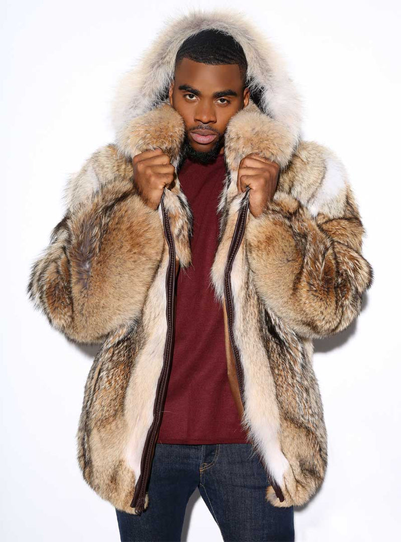men's coyote fur jacket
