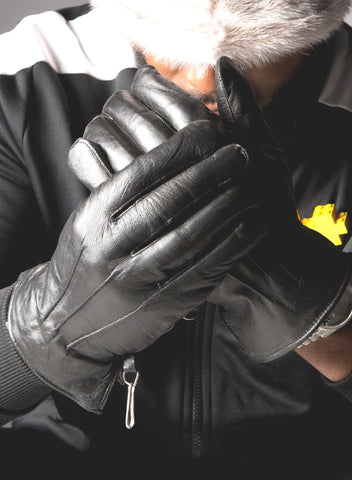 Men's Black Lamb Leather Gloves
