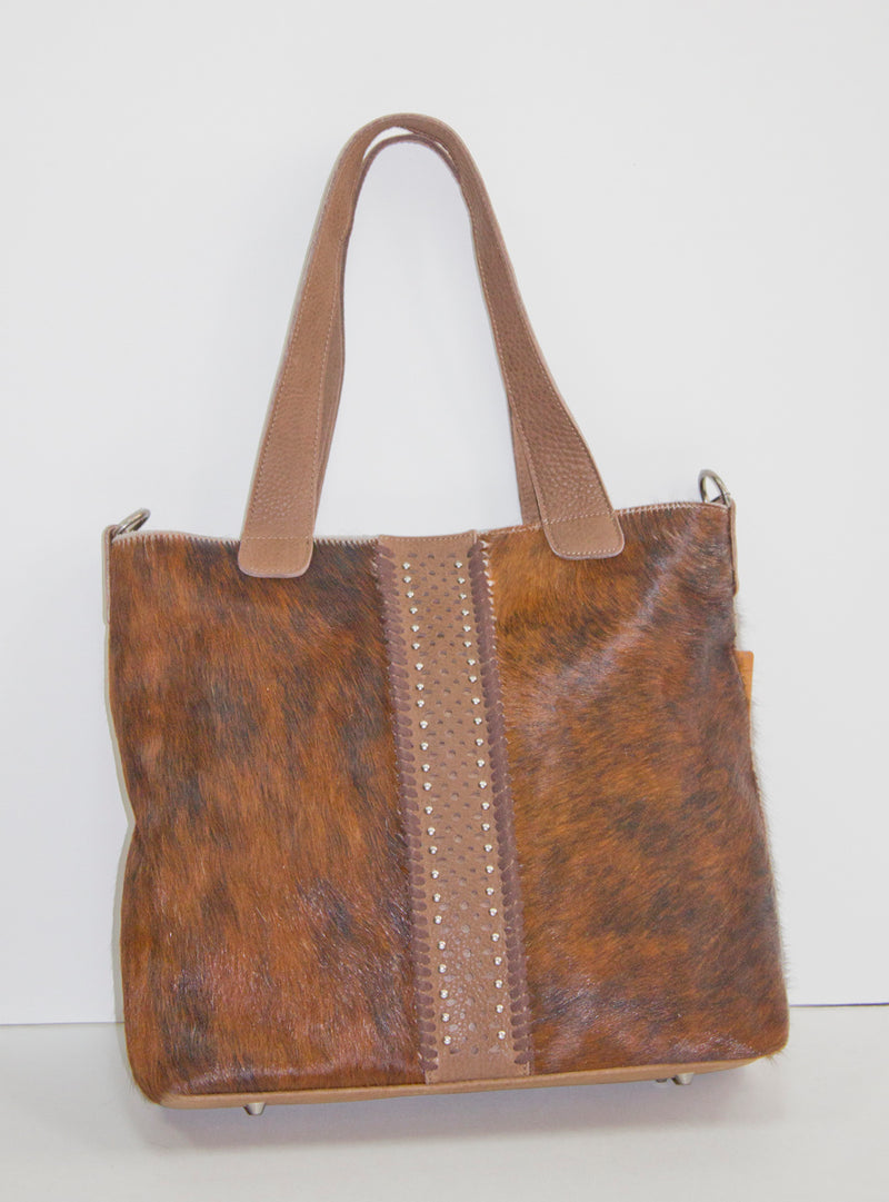 cowhide purse, hair on hide