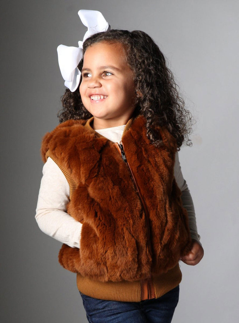 children's fur vest