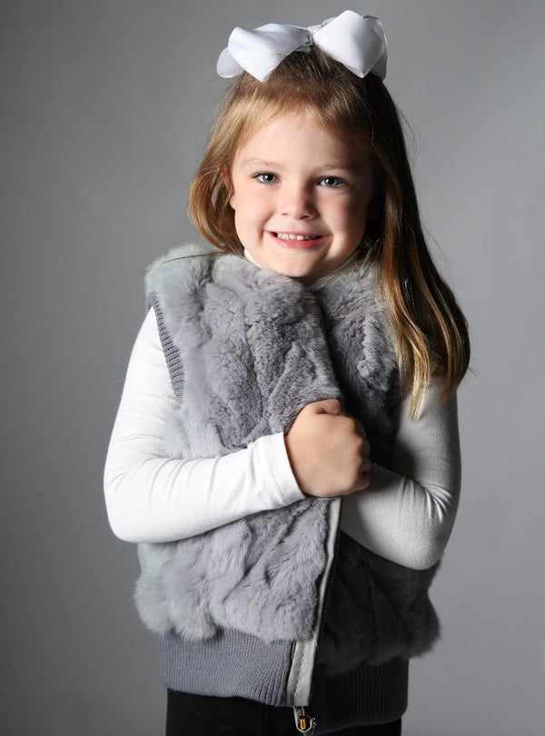children's rabbit fur vest