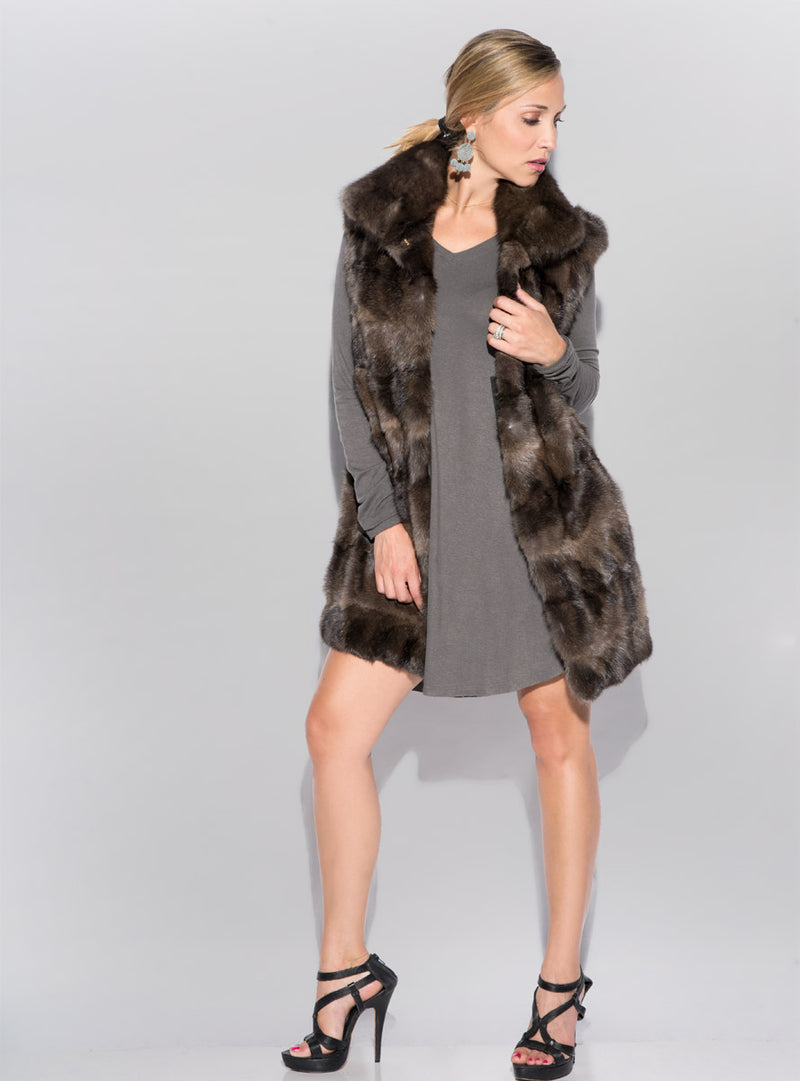 Women's Sable Fur Vest