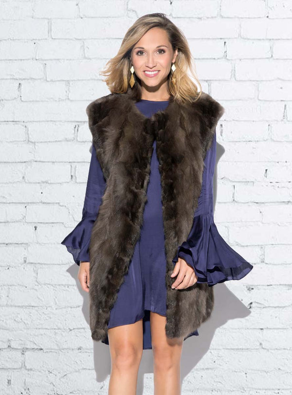 Sculpted Russian Sable Fur Vest