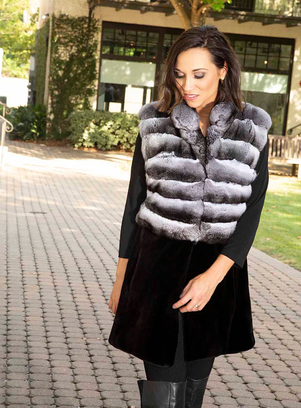 women's chinchilla fur vest