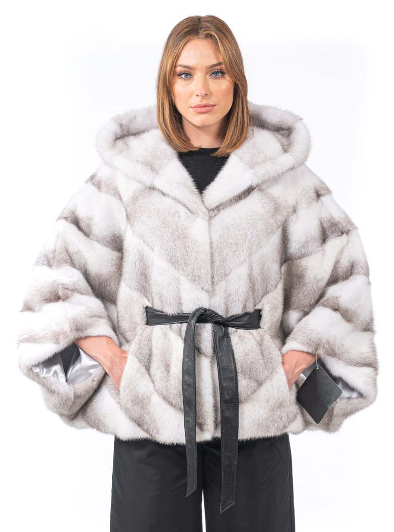 women's mink fur cape