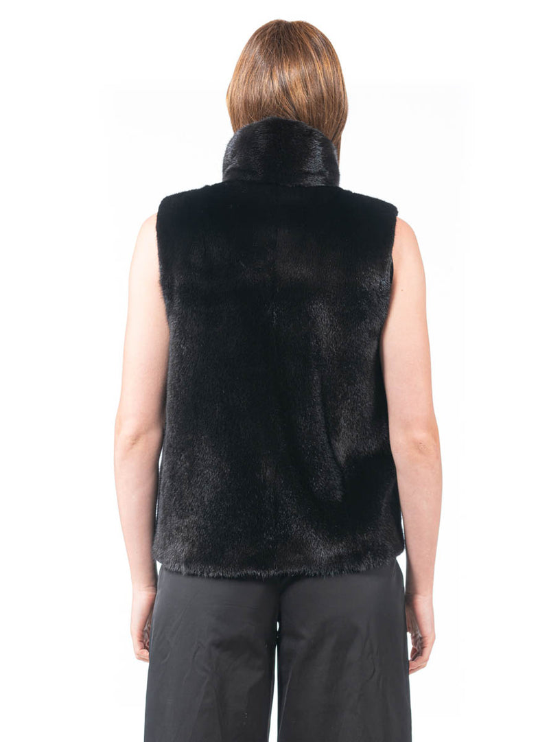 Women's Ranch SAGA Mink Vest with Zip Front