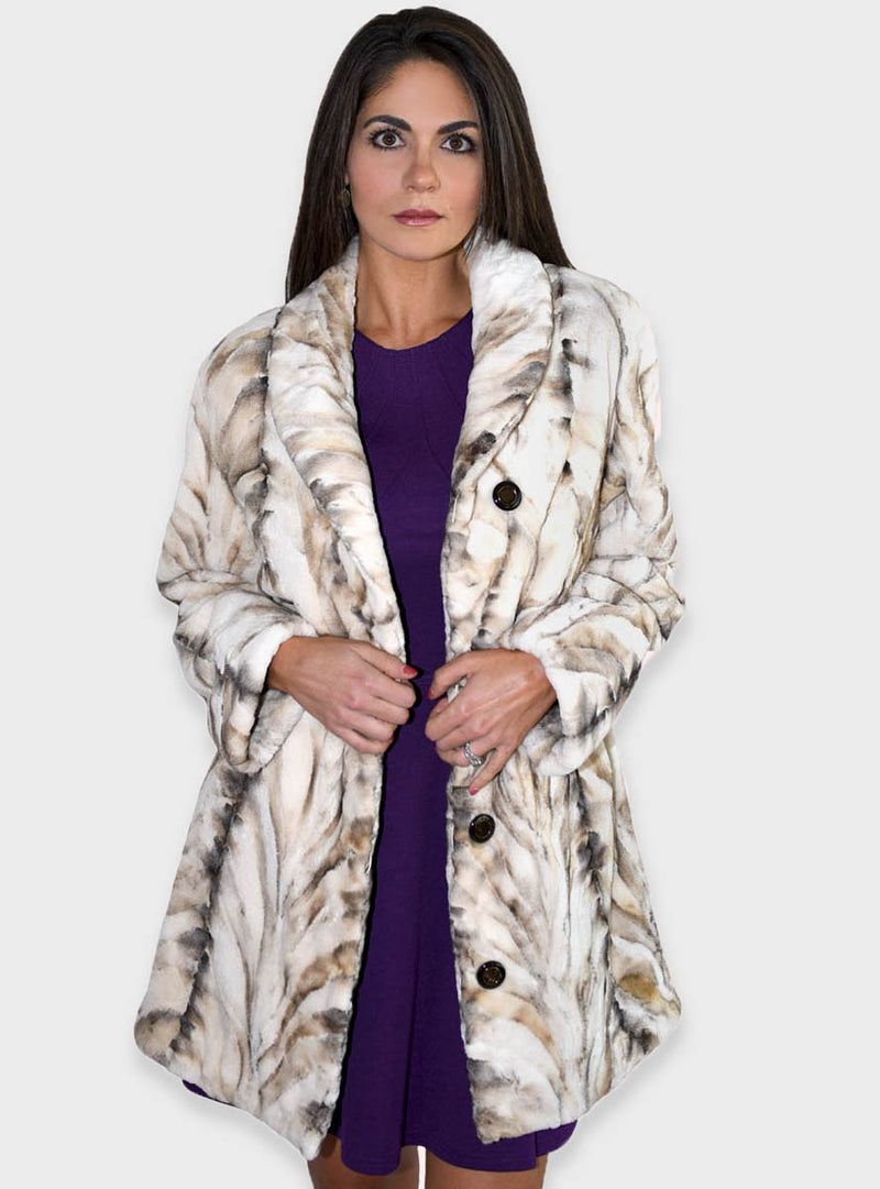 Women's Mink Fur Jacket, reversible