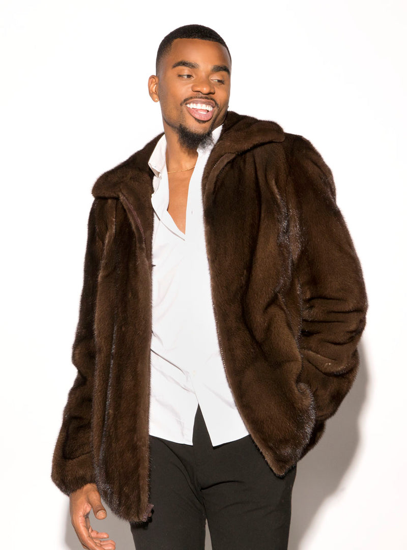 men's mink fur jacket