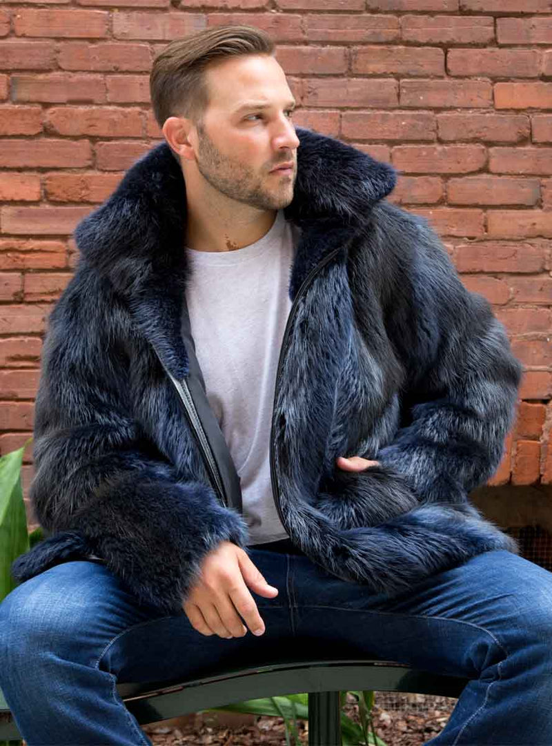 men's beaver fur jacket