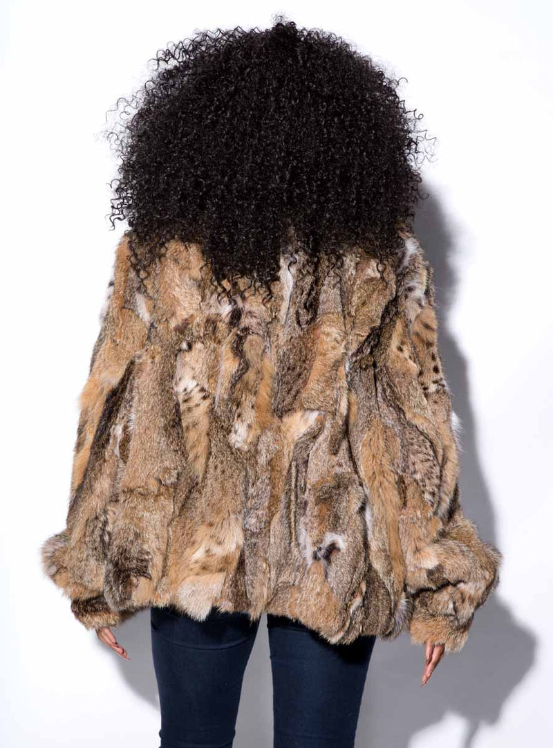Women's bobcat fur jacket