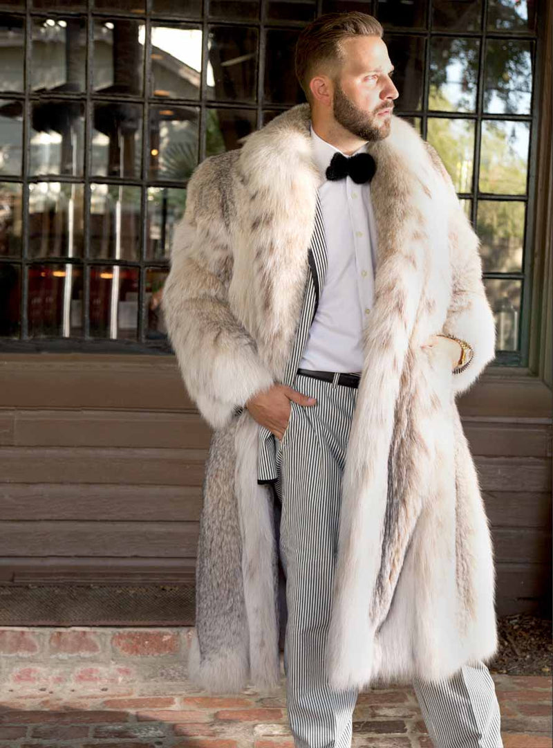 men's lynx fur coat