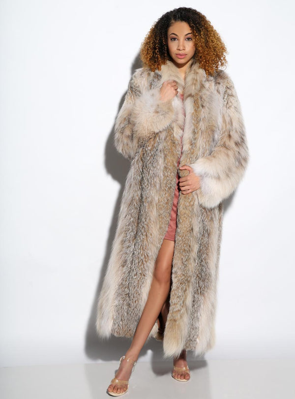 women's Canadian lynx fur coat