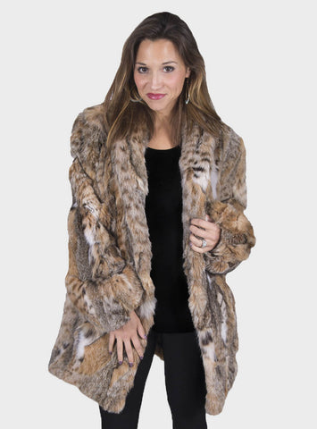 Bobcat Fur Stroller with Optional Fox Fur Collar