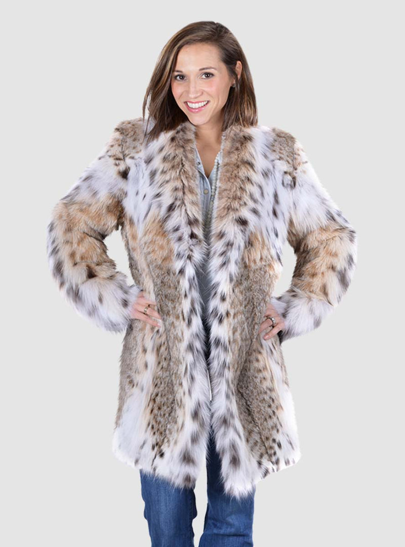 Bobcat Fur Stroller with Shawl Collar