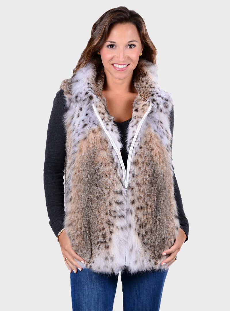 Natural Bobcat Fur Vest