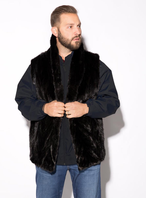 Men's Mink Fur Vest