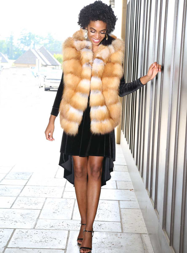Women's Fox Fur Vest