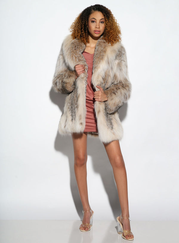 Women's Canadian Lynx Fur Jacket
