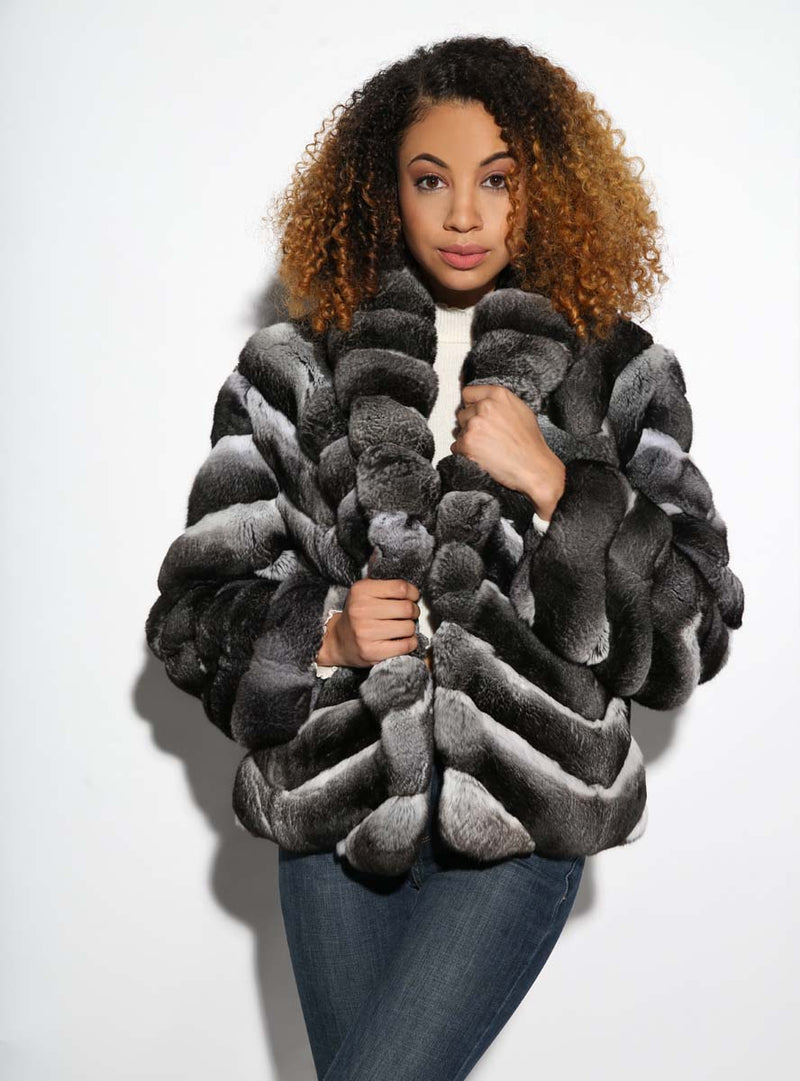 women's chinchilla fur jacket